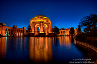 Palace of Fine Arts, evening illumination