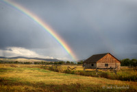 Cabin and Clearing Storm, Tetons
